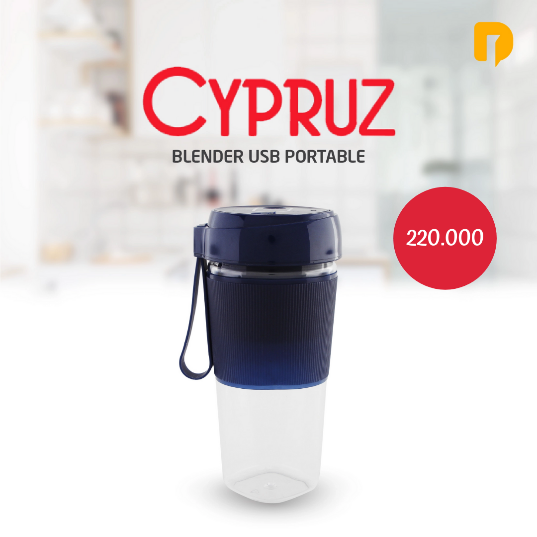 Blender USB Portable Cypruz Blue