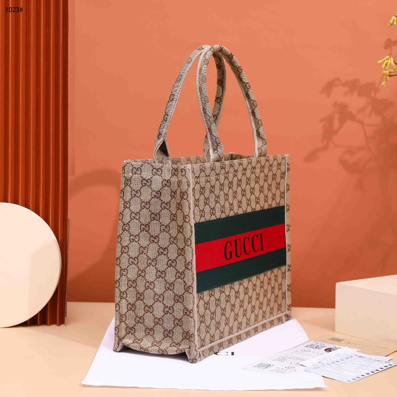 Gucci GG Canvas Top Handle Tote Bag #1023
