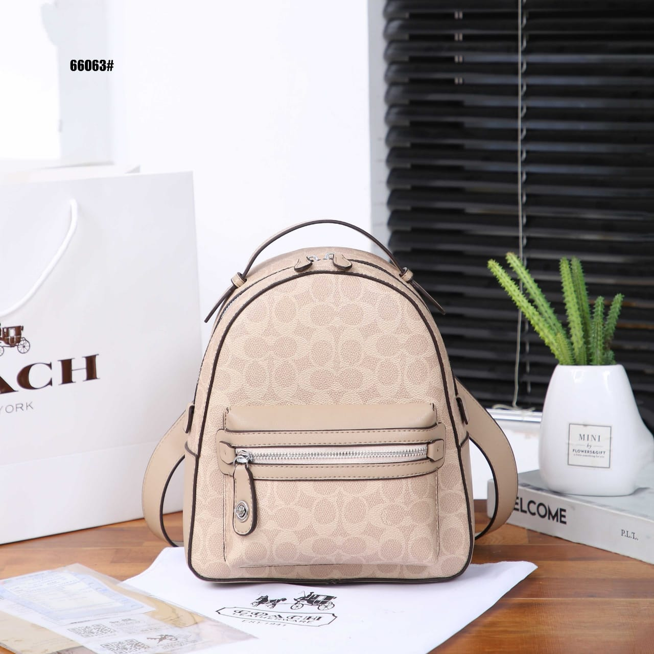 CCH Campus Backpack in Signature Silver Hardware 66063#