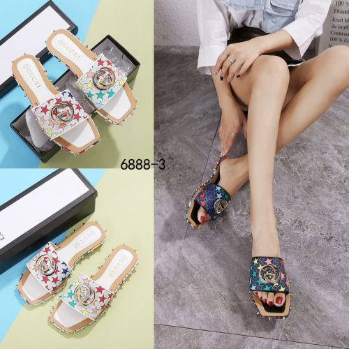 New Arrivall ! New Item !  GC GG Star With Studed Flats Sandals #6888-3