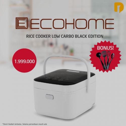 Rice Cooker Low Carbo Ecohome Black Edition