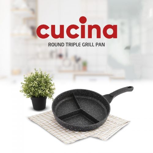 Cucina Round Triple Grill Pan