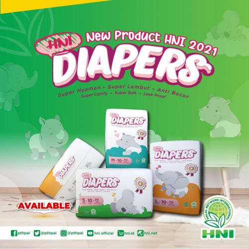 DIAPERS Size M  (NEW PRODUK)
