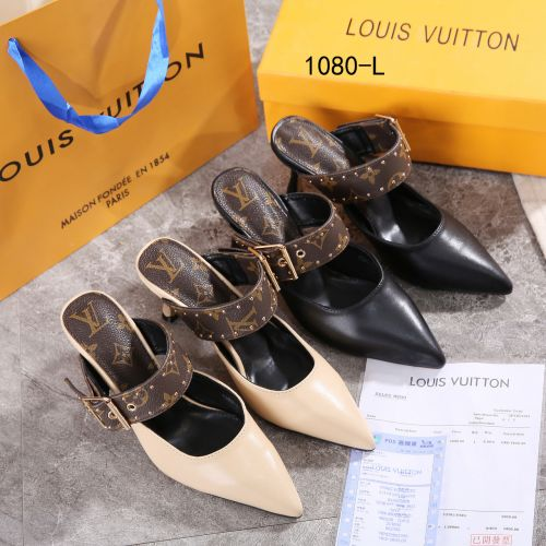 New Arrivall !  LV Leather Heel Shoes #1080-L