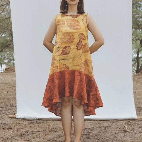 Jenar - Ecoprint and Natural Dyeing Dress