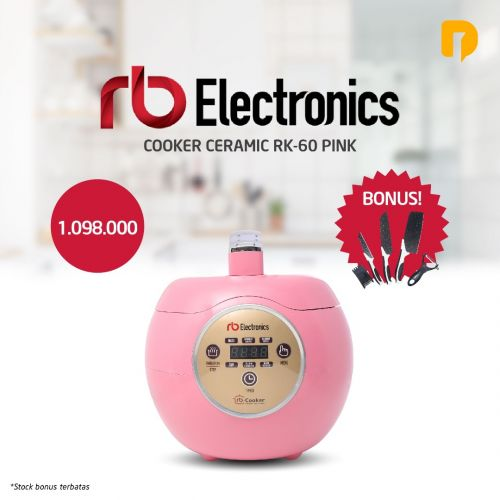Rice Cooker Ceramic RB Electronic Pink