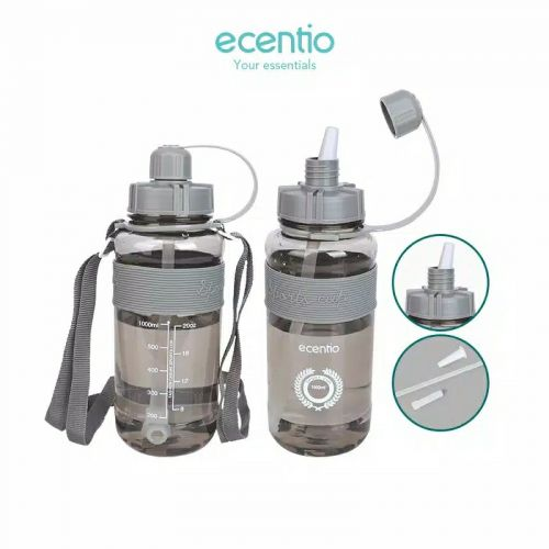 Ecentio Sippy Cup botol minum Besar Sporty