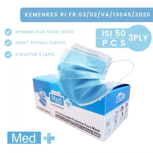 Masker 3ply Daily Disposable