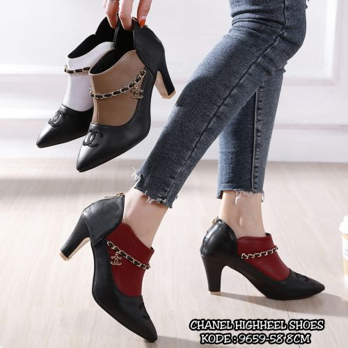CHANEL HIGHHEEL SHOES 9659-58