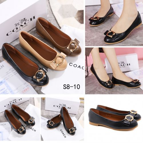 COACH LEATHER FLAT SHOES #S8-10
