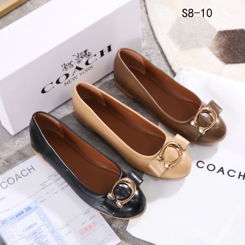 Coach Leather Flat Shoes #S8-10*_