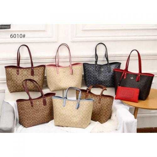 Coach Signature Neverfull With Pouch #6010*_