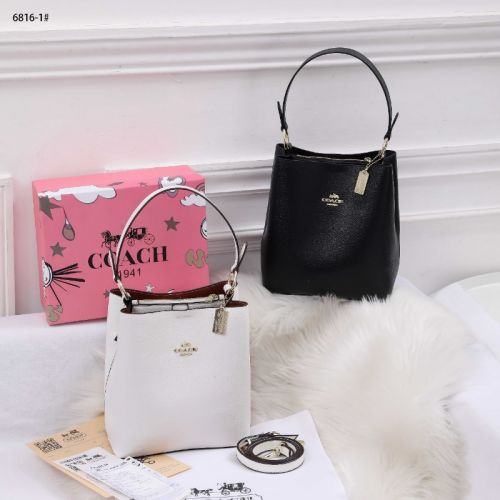 Coach Small Town Bucket Bag in Leather #6816-1