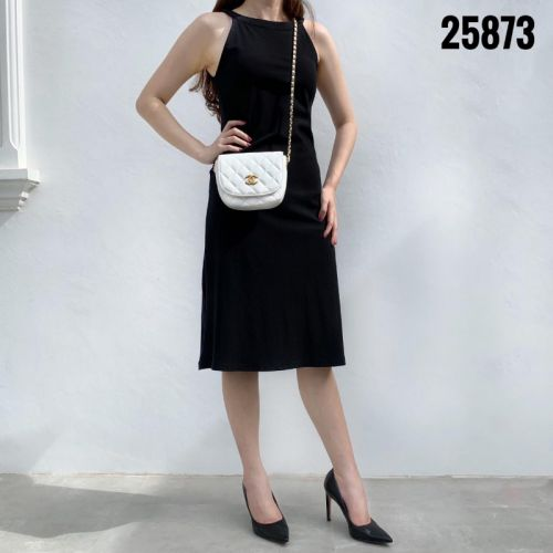 Chanel Sling Bag in Calf Skin Leather #25873