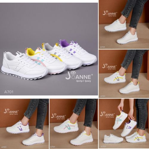 JOANNE LEATHER SNEAKERS SHOES #A701